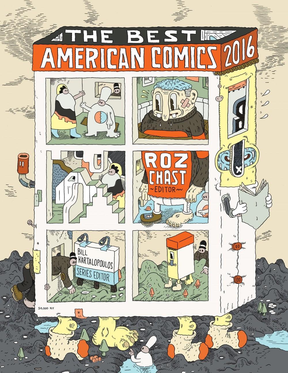 The Best American Comics 2016: a capa da coletânea editada por Roz Chast