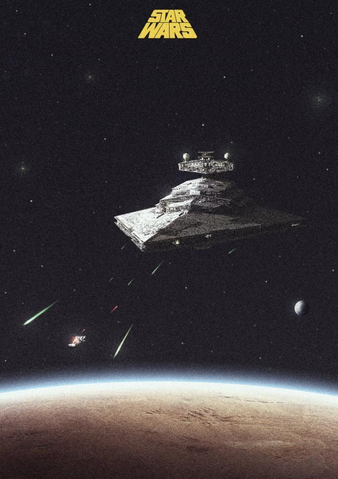 Star Wars, por Colin Morella