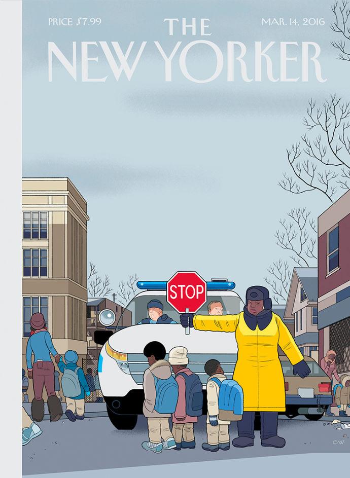 Chris Ware e os policiais de rua de Chicago na capa da próxima New Yorker