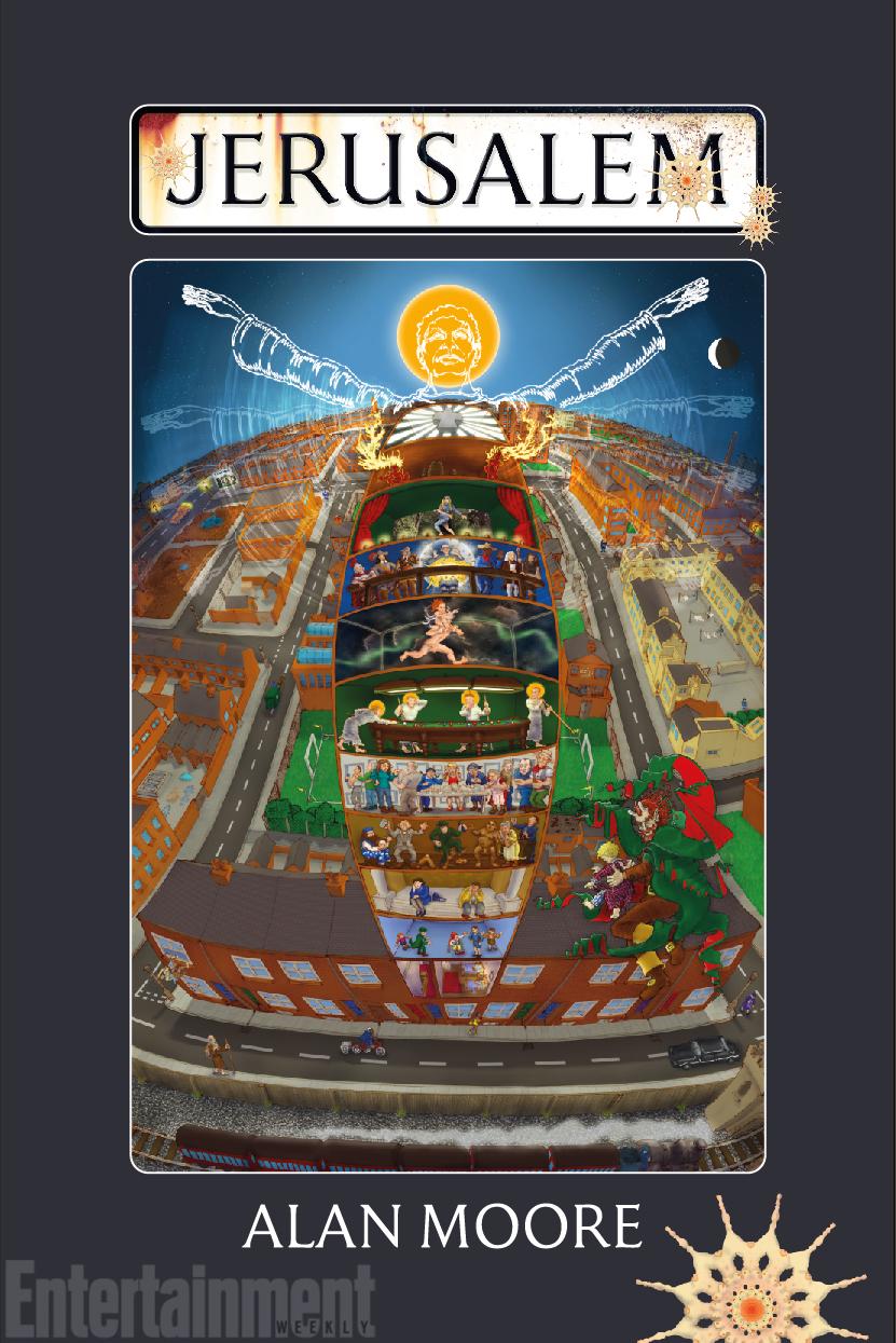 A capa de Jerusalem, o livro de 1184 páginas de Alan Moore