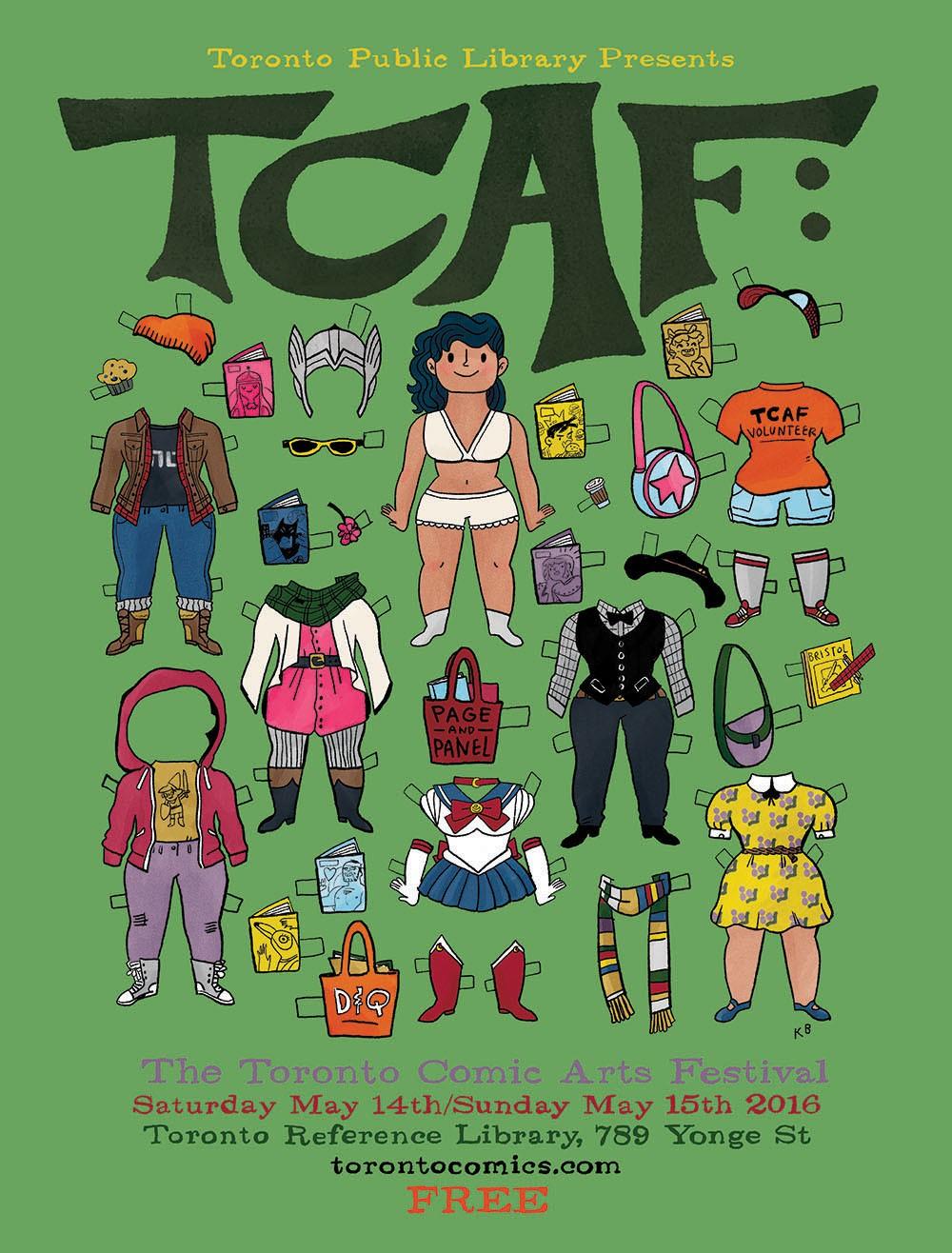 Os cartazes do Toronto Comic Arts Festival 2016, por Kate Beaton e Kazu Kibuishi