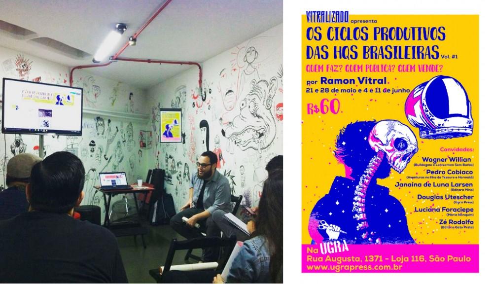 A primeira aula do curso Os Ciclos Produtivos das HQs Brasileiras