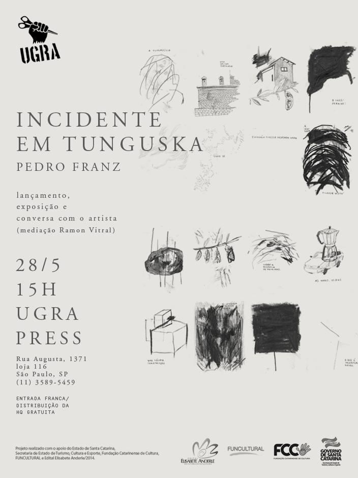 Incidente em Tunguska: Pedro Franz lança a HQ em São Paulo com exposição e conversa com os leitores