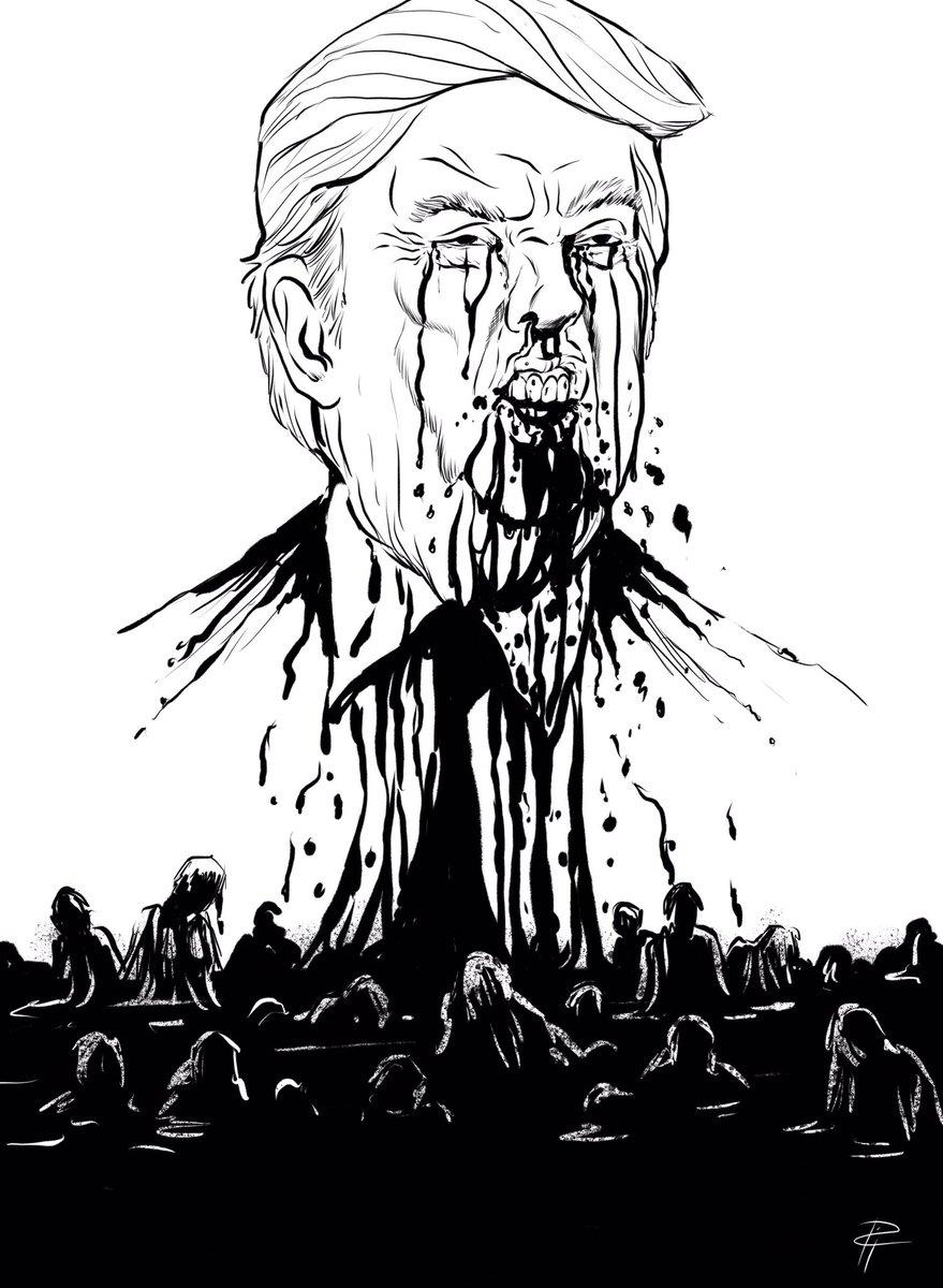 Donald Trump, por Pia Guerra