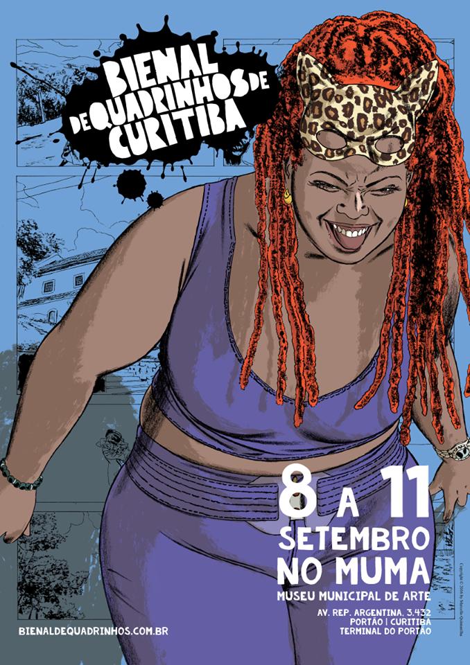 O pôster da Bienal de Quadrinhos de Curitiba, por Marcello Quintanilha