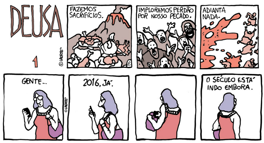## Retrospectiva Vitralizado 2016 ## Deusa e Século XXI, por Laerte