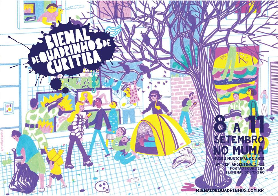 Mais um cartaz para a Bienal de Quadrinhos de Curitiba, por Power Paola