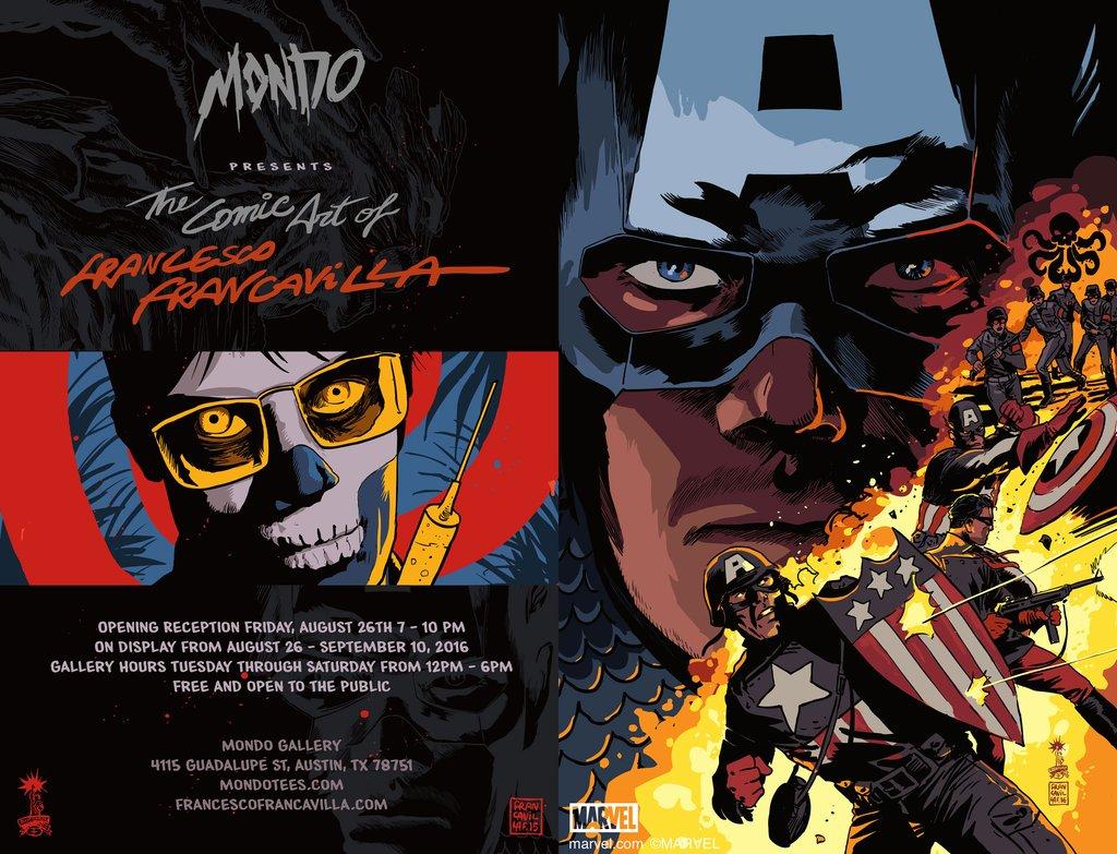 The Comic Art of Francesco Francavilla em exposição na Mondo