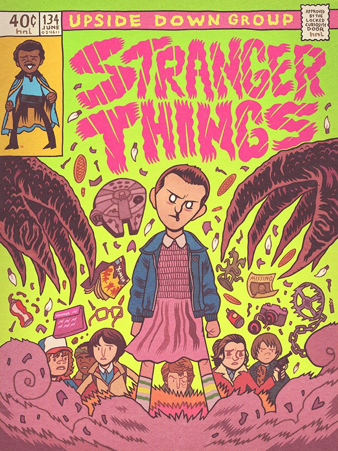 Stranger Things, por Dan Hipp