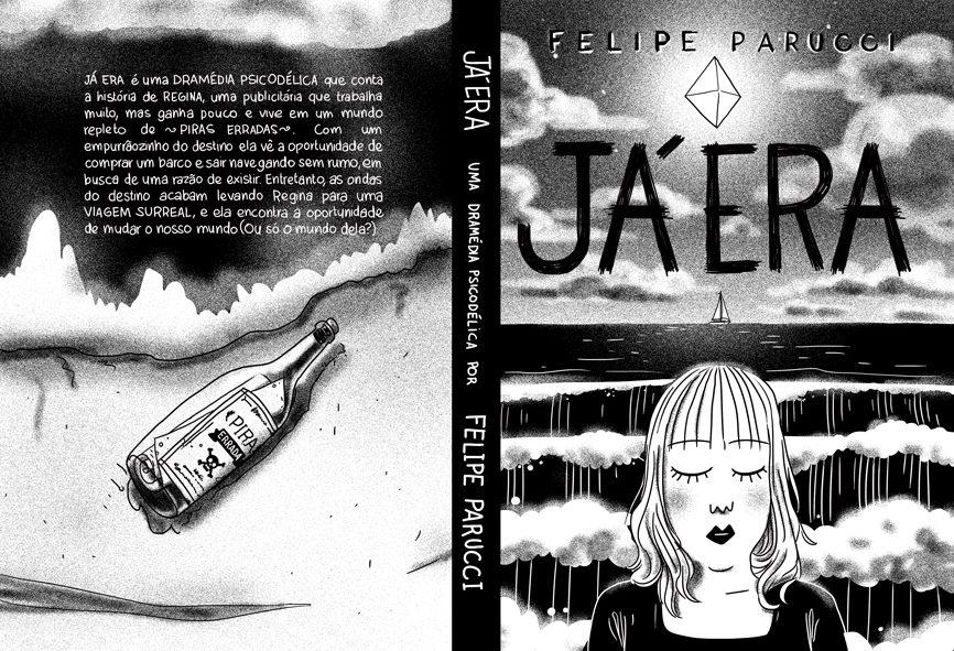 A capa de Já Era, a próxima história em quadrinhos de Felipe Parucci