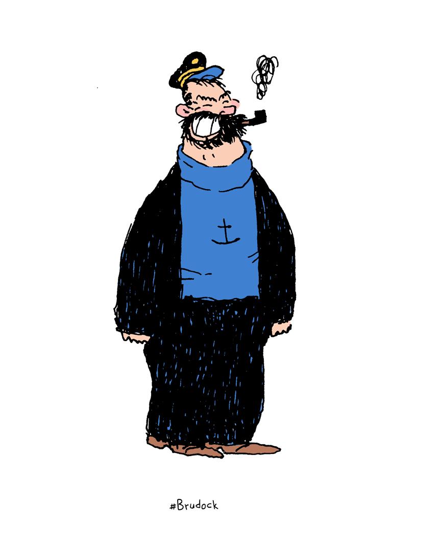 Brutos + Capitão Haddock = Brudock