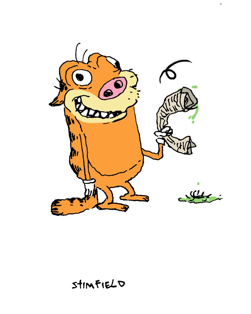 Stimpy + Garfield = Stimfield
