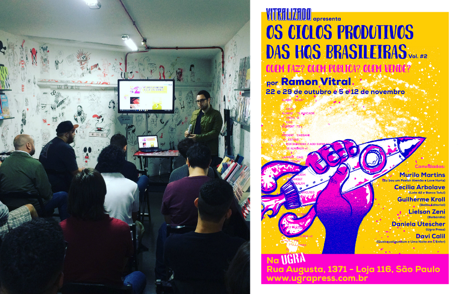 A primeira aula do curso Os Ciclos Produtivos das HQs Brasileiras – Vol. #2