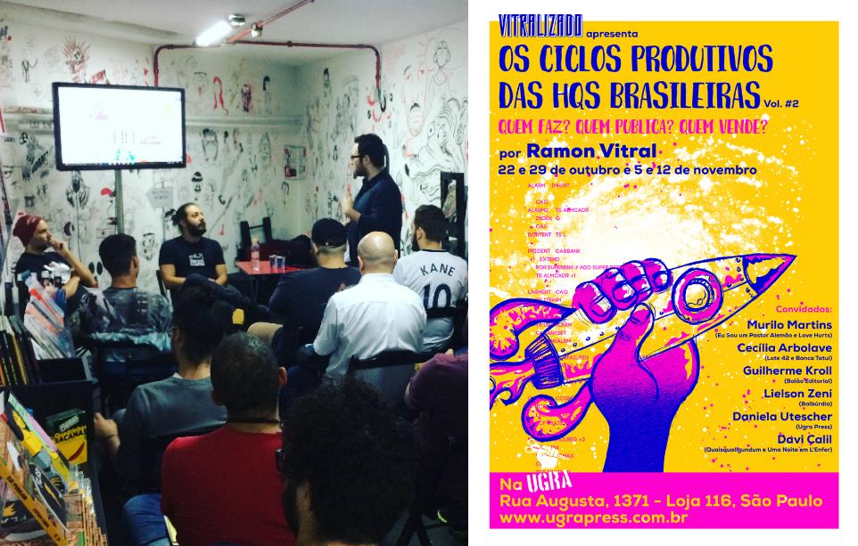 A segunda aula do curso Os Ciclos Produtivos das HQs Brasileiras – Vol. #2
