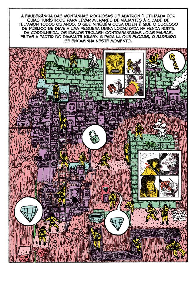 As Aventuras de Flores, O Bárbaro: a nova série em quadrinhos do Jão