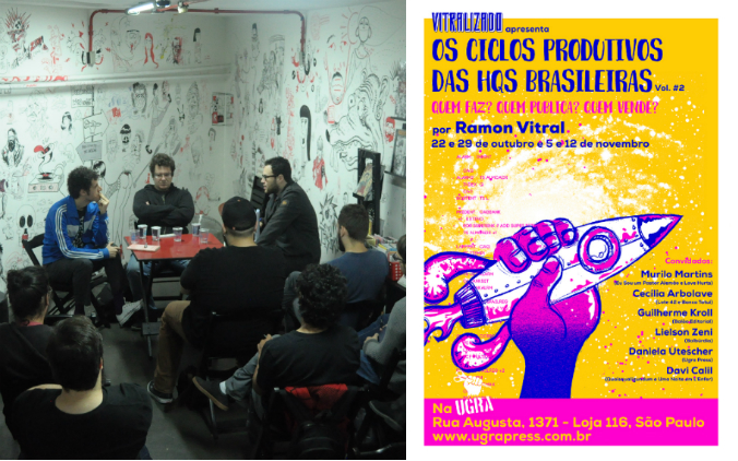 A terceira aula do curso Os Ciclos Produtivos das HQs Brasileiras – Vol. #2