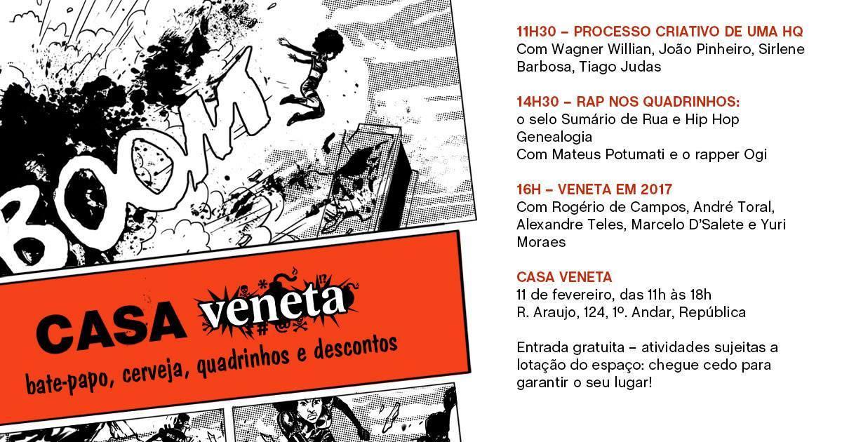 Casa Veneta: um tarde de papos sobre HQs, anúncios de lançamentos e descontos na sede da editora Veneta