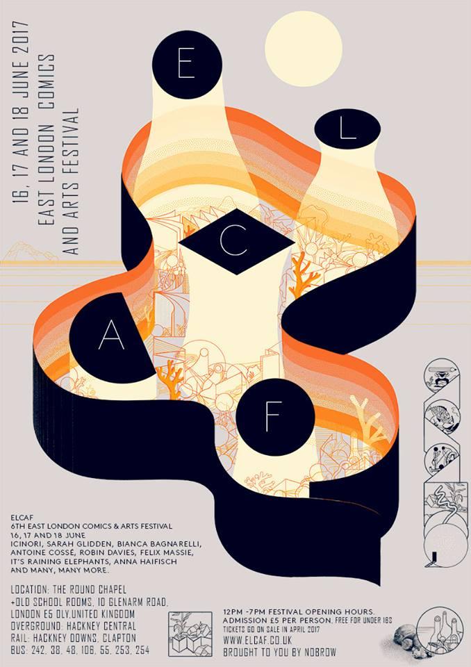 O cartaz da dupla Icinori pro ELCAF 2017
