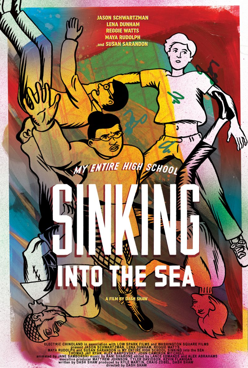 My Entire High School Is Sinking Into The Sea: o pôster e o trailer da animação produzida por Dash Shaw