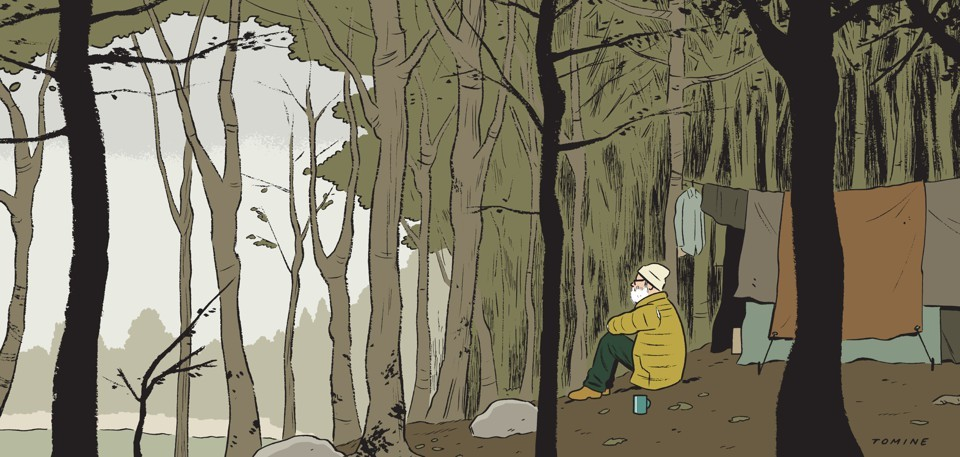 Lessons of the Hermit, por Adrian Tomine