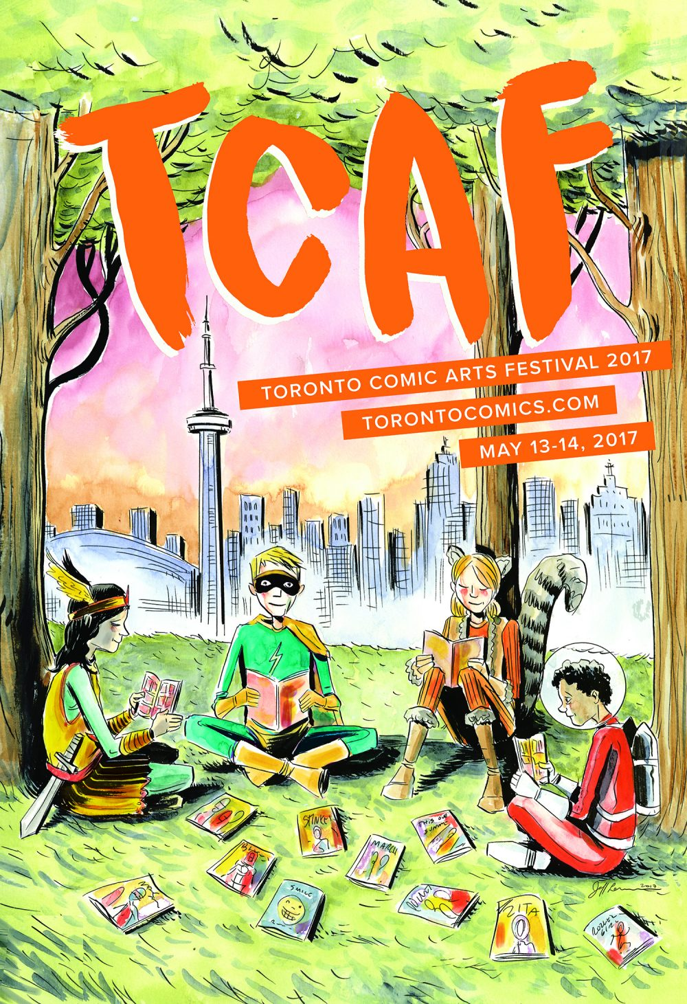 Os cartazes do Toronto Comic Arts Festival 2017, por Jeff Lemire e Sana Takeda