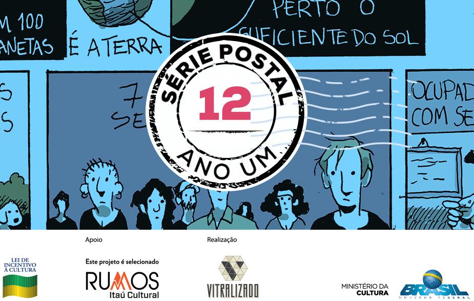 Série Postal: Felipe Portugal é o autor do sexto número da coleção de HQs em formato de cartão postal do Vitralizado