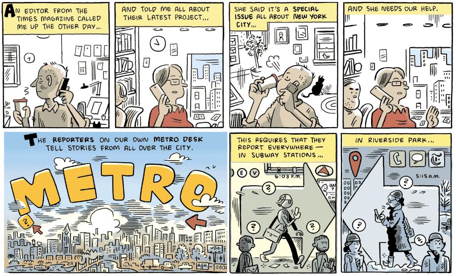 The New York Stories: um especial em quadrinhos da New York Times Magazine com trabalhos de David Mazzucchelli, Tom Gauld, Sammy Harkham e outros