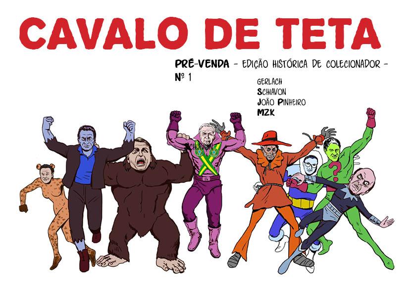 Cavalo de Teta #1: uma coletânea organizada por João Pinheiro sobre humor, política e experimentalismo em quadrinhos
