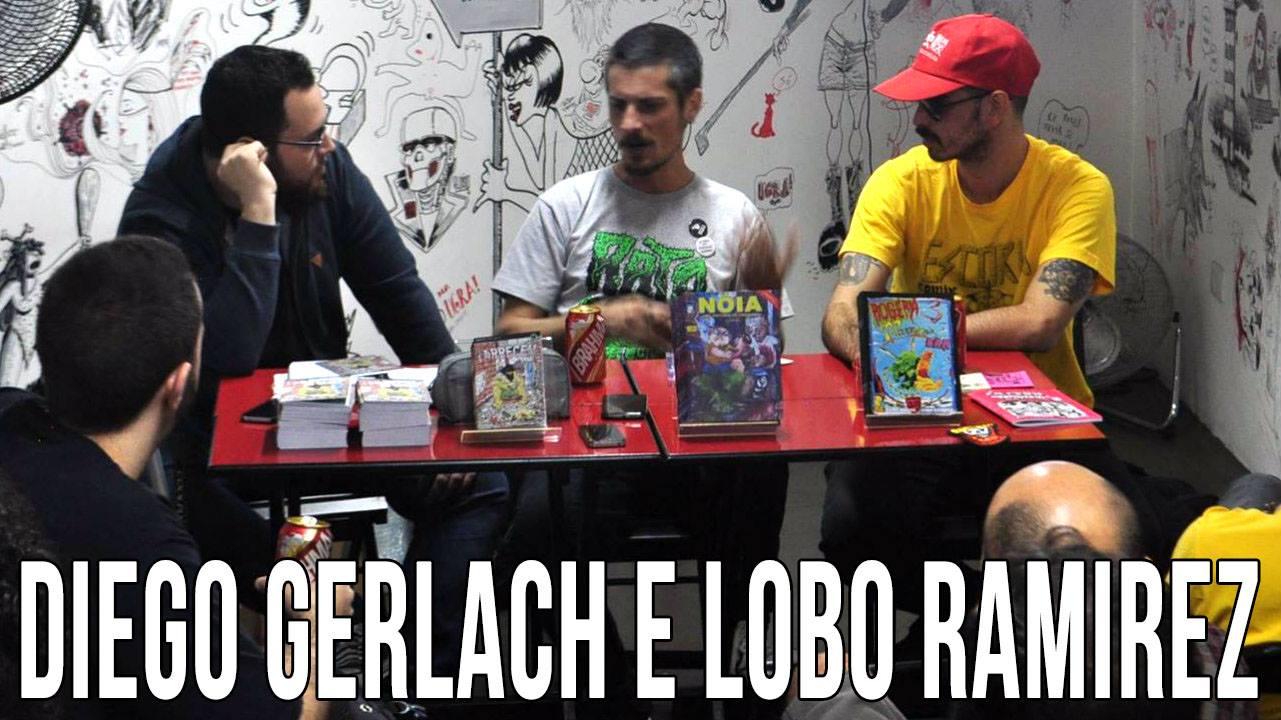 Uma conversa com Diego Gerlach e Lobo Ramirez sobre os títulos da Escória Comix e da Vibe Tronxa Comix. Assista!