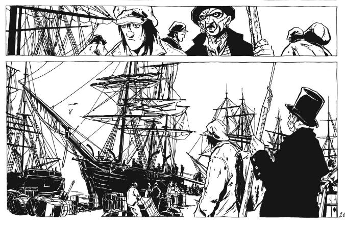Moby Dick, de Herman Melville e Chabouté: confira uma prévia de oito páginas e a capa da próxima HQ da editora Pipoca & Nanquim