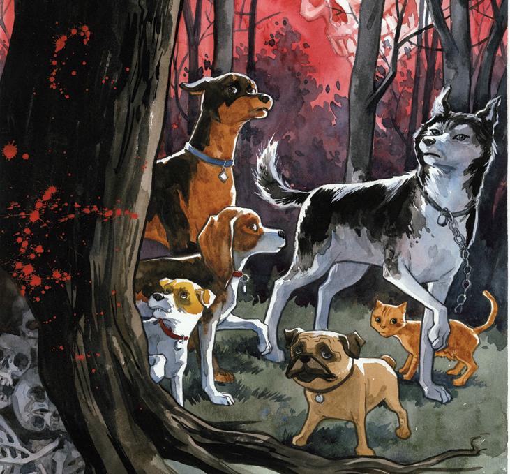 Confira uma prévia de Beasts of Burden – Rituais Animais, a 4ª HQ da editora Pipoca & Nanquim
