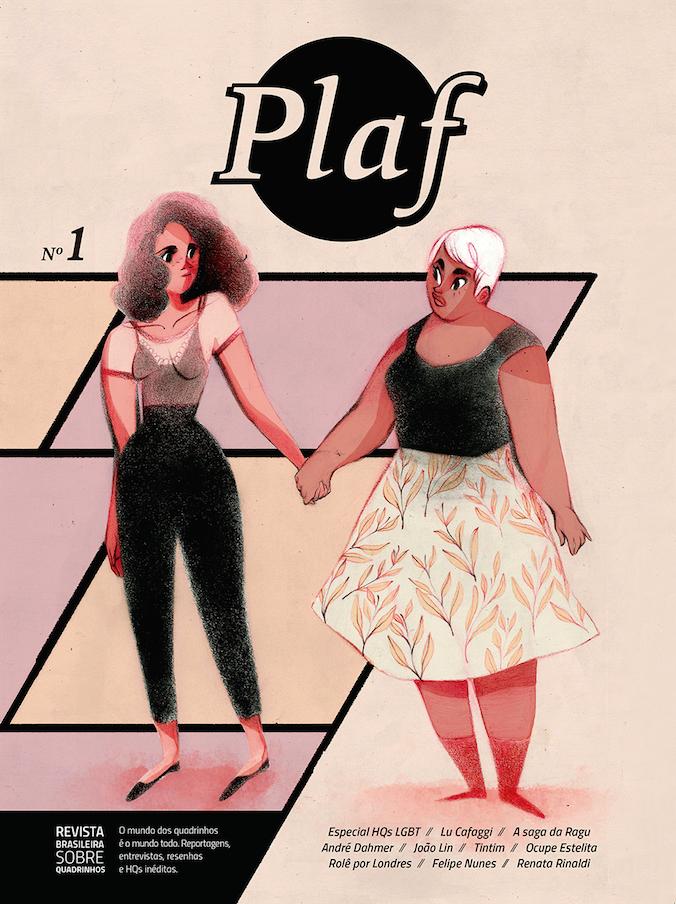 """A capa da 1ª edição da Plaf, a mais nova revista brasileira sobre HQs: """"Temos como desafio mostrar os quadrinhos como uma arte que dialoga com o mundo"""""""