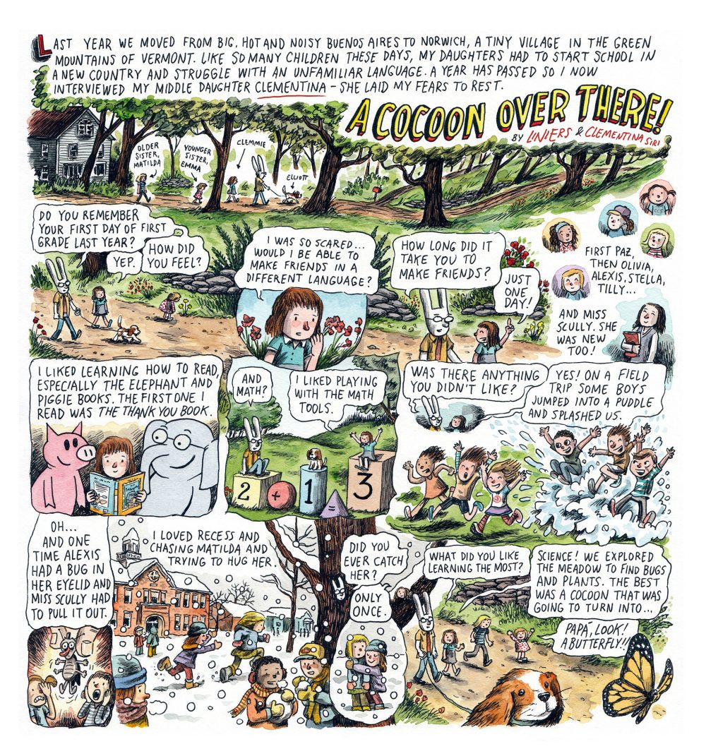 A cocoon over there!, por Liniers