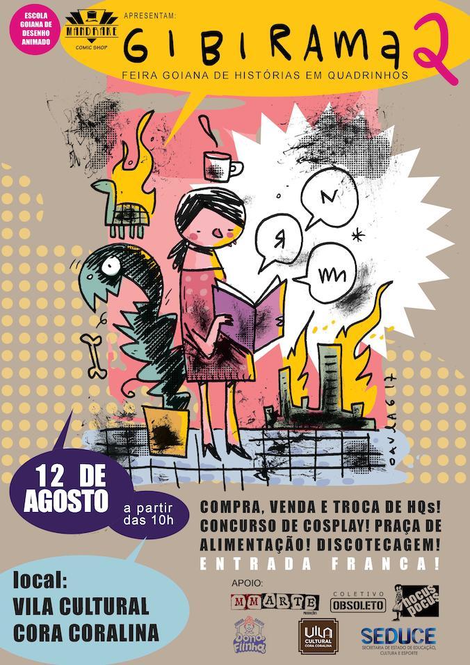 Amanhã (12/8) é dia de Gibirama – Feira Goiana de Histórias em Quadrinhos
