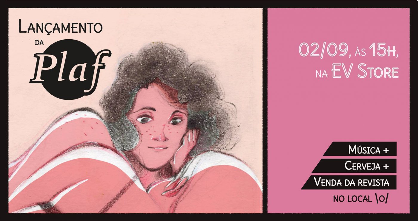 Sábado (2/9) é dia de lançamento da revista Plaf #1 na EV Store de Recife