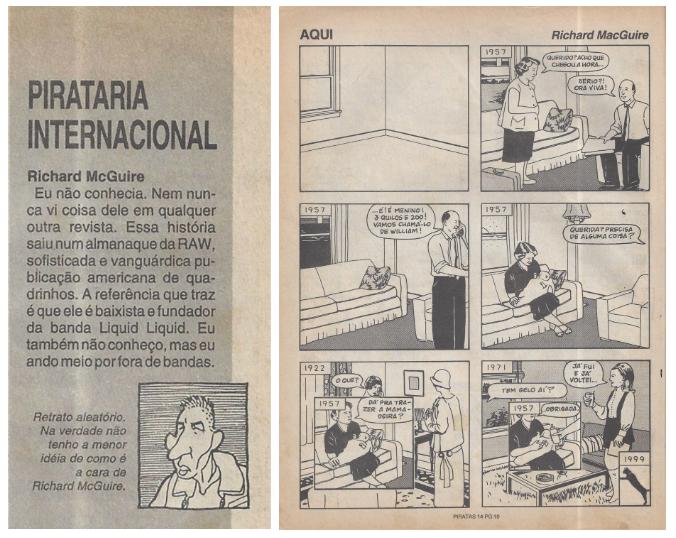 Here/Aqui: leia a versão original da obra-prima de Richard McGuire publicada nas páginas da edição de abril de 1992 da Piratas do Tietê