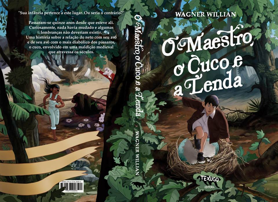 A capa de O Maestro, O Cuco e A Lenda, a próxima HQ de Wagner Willian e o primeiro álbum da Texugo Editora