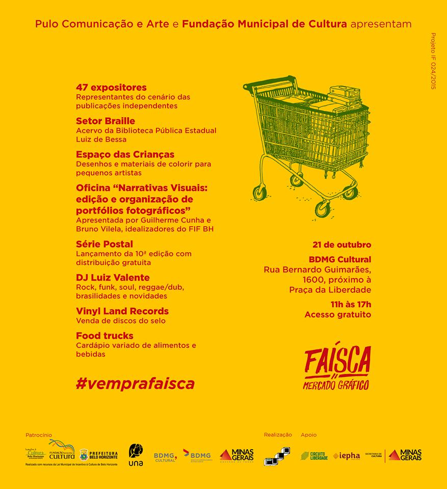 Sábado (21/10) é dia de Faísca – Mercado Gráfico em Belo Horizonte