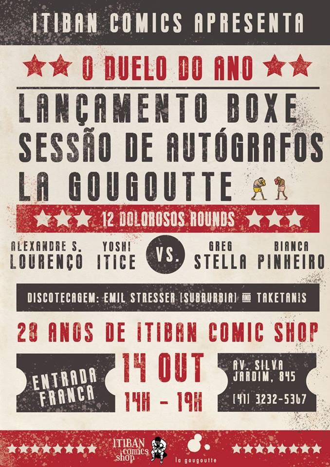 Sábado (14/10) é dia de festa de 28 anos da Itiban com sessão de autógrafos dos autores do selo La Gougoutte