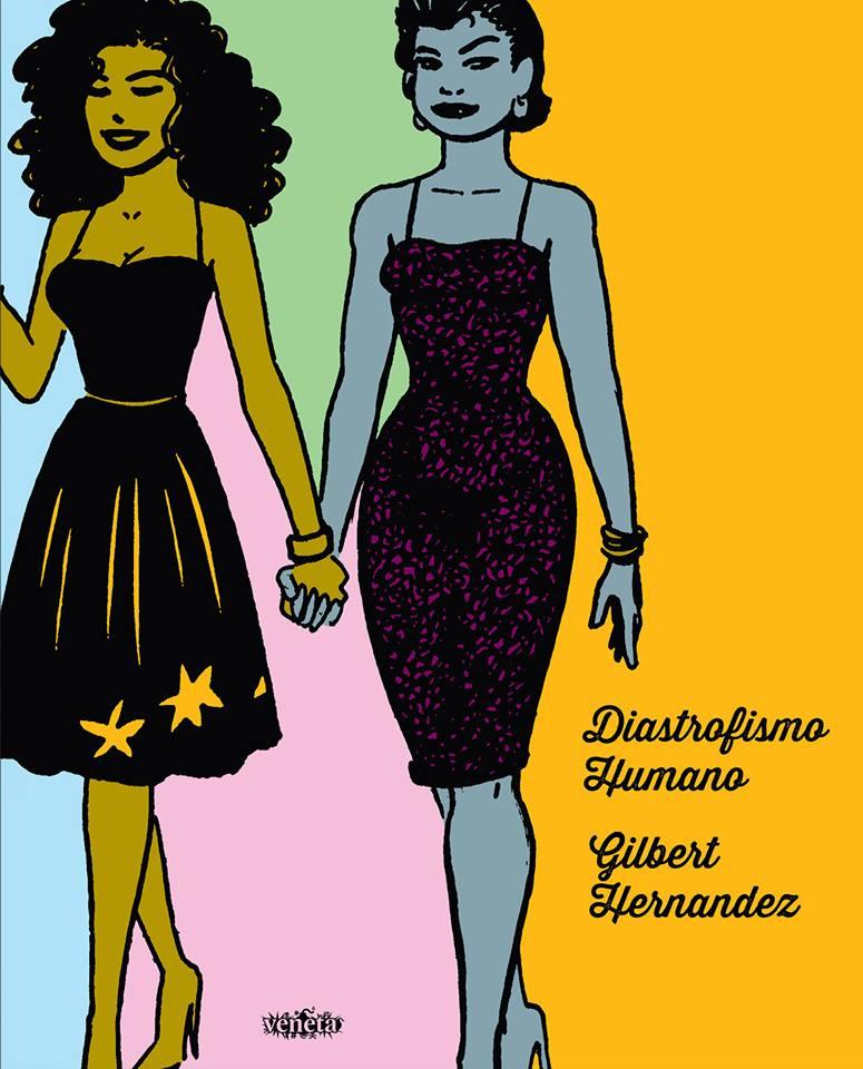 A capa de Diastrofismo Humano, próximo álbum da série Love & Rockets que será lançado no Brasil