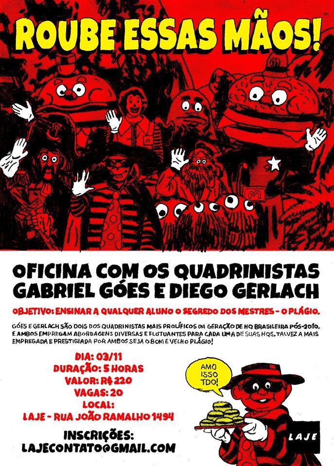 ROUBE ESSAS MÃOS!: uma oficina sobre plágio com Gabriel Góes e Diego Gerlach