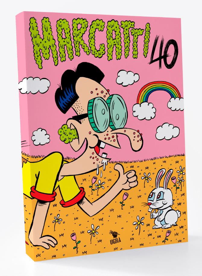 Marcatti 40: a capa de Pablo Carranza para a coletânea celebrando os 40 anos de carreira de Marcatti