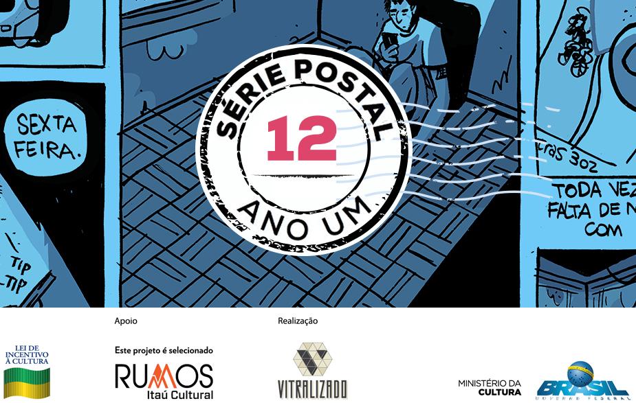 Série Postal: Felipe Nunes é o autor do 10º número da coleção de HQs em formato de cartão postal do Vitralizado