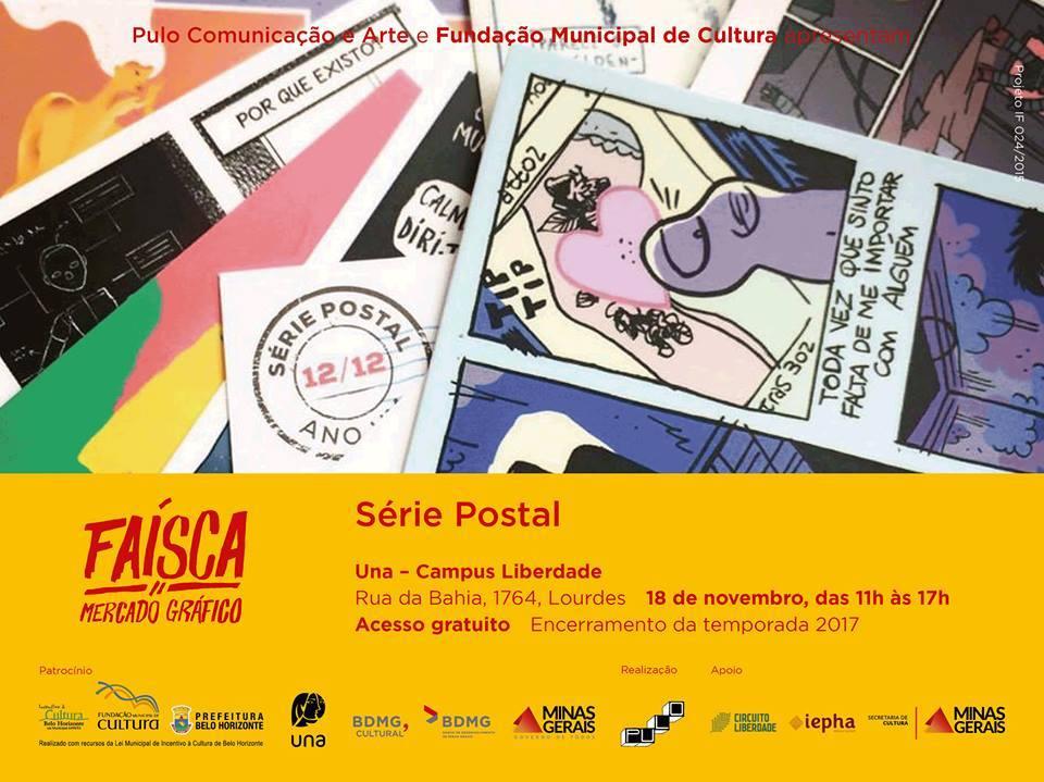 Sábado (18/11) é dia de Faísca em Belo Horizonte, com lançamento da 11ª edição da Série Postal