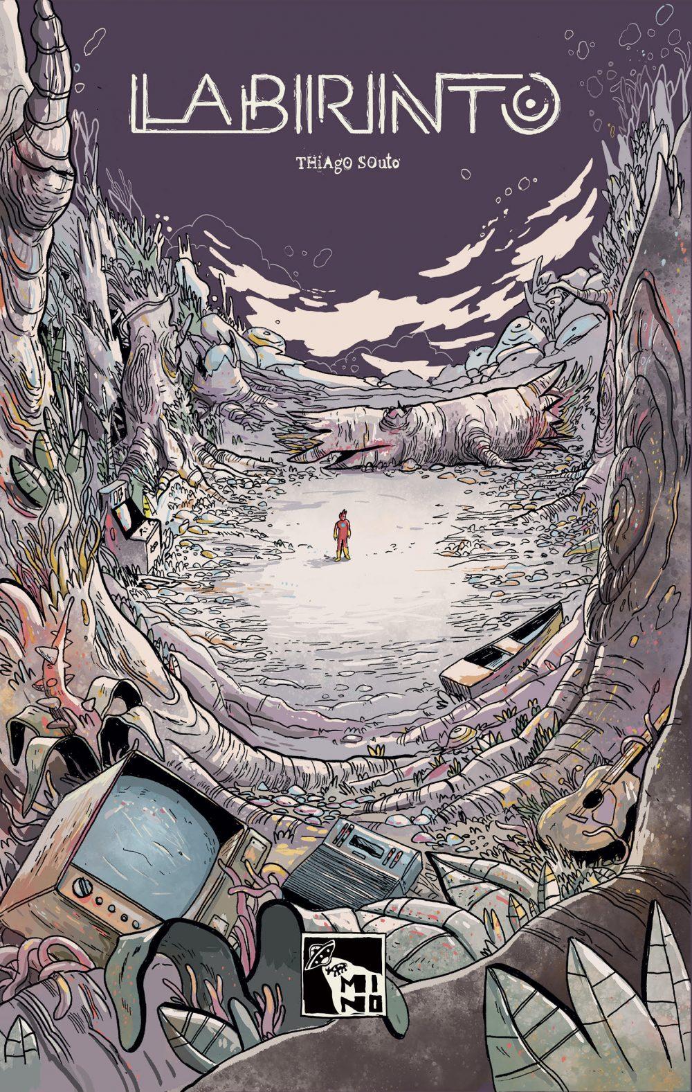 A capa de Labirinto, o novo álbum do quadrinista Thiago Souto