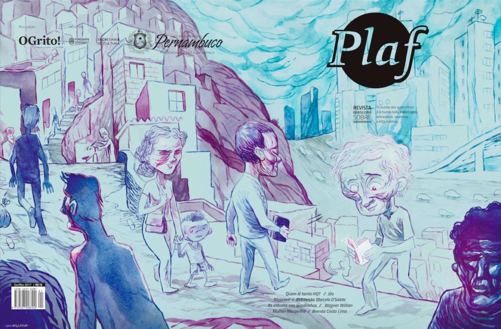 Confira a capa da 2ª edição da revista Plaf, com arte de Christiano Mascaro