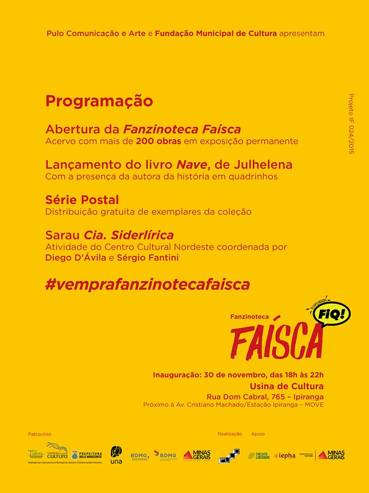 5ª (30/11) é dia de inauguração da Fanzinoteca Faísca em Belo Horizonte