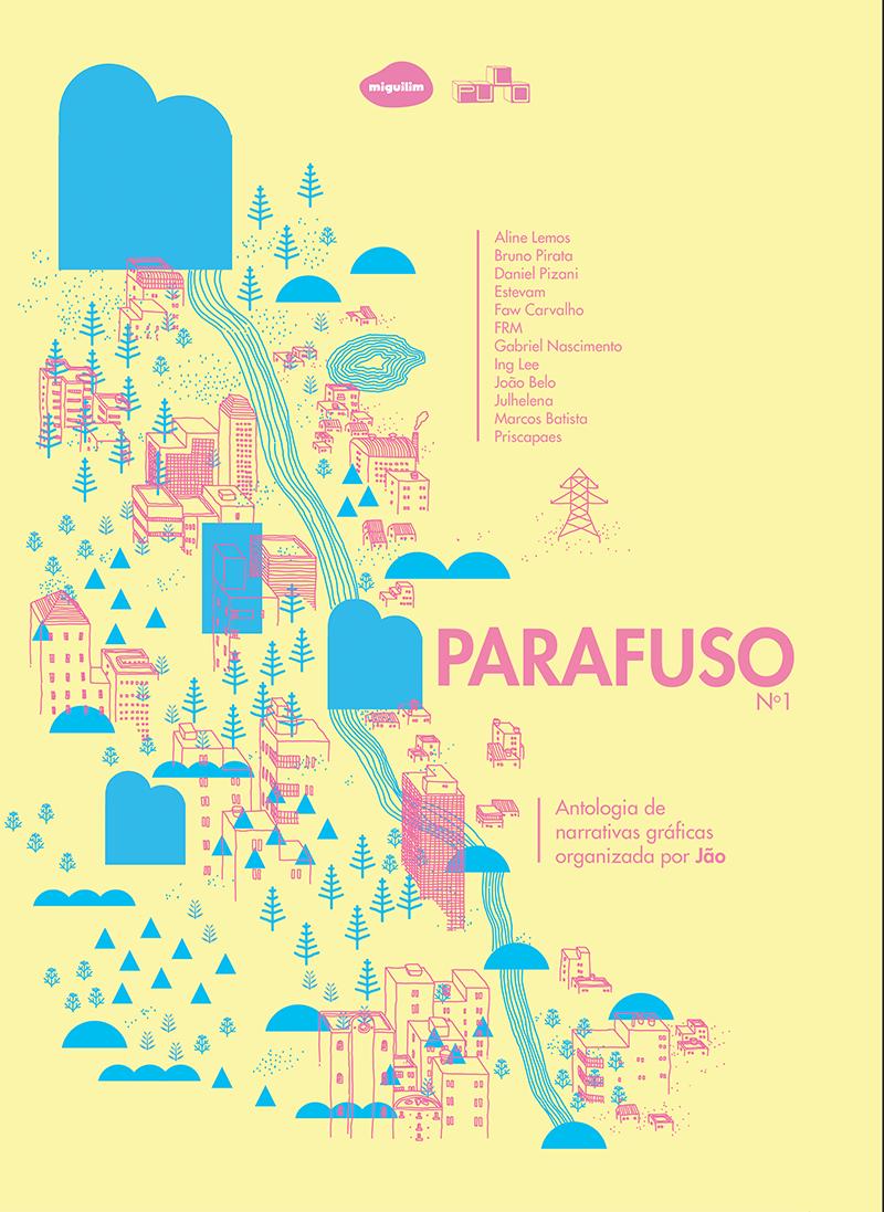 PARAFUSO #1: confira a capa e uma prévia da antologia de HQs experimentais editada por Jão