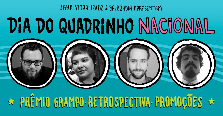 Sábado (3/2) é Dia do Quadrinho Nacional na Ugra, com o anúncio dos vencedores do Prêmio Grampo 2018
