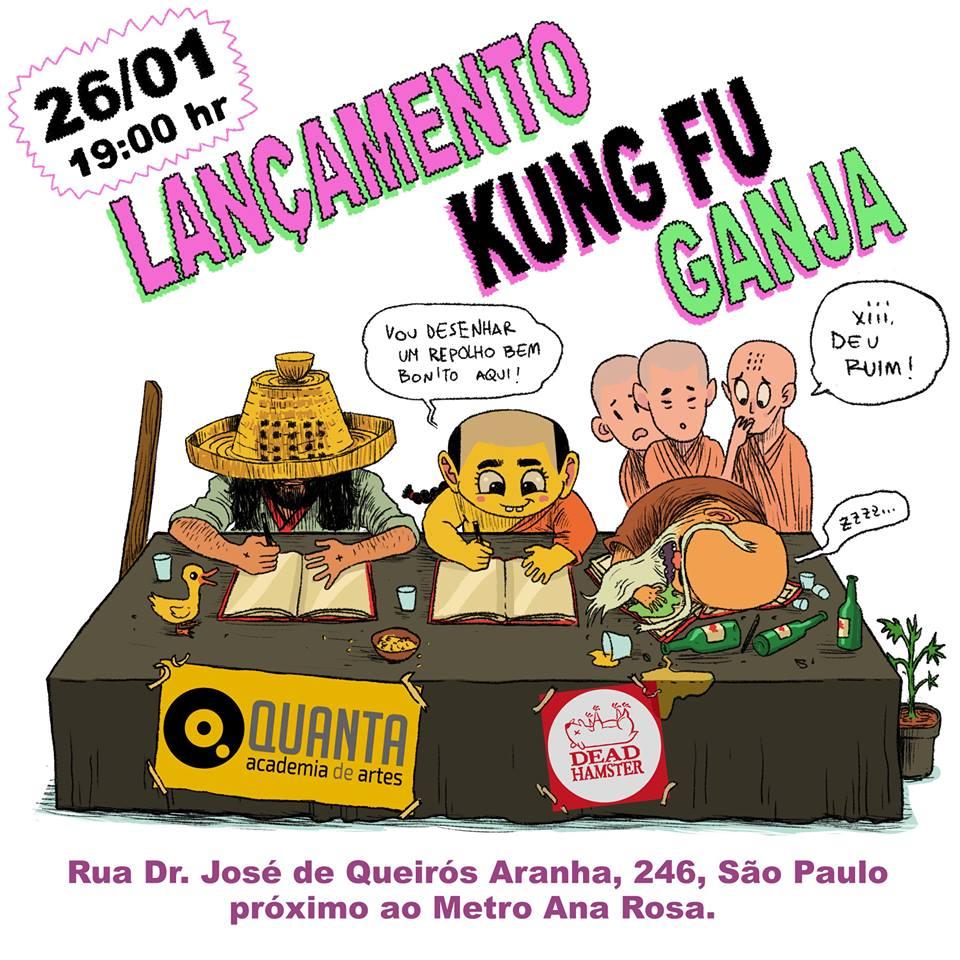 6ª (26/1) é dia de lançamento de Kung Fu Ganja – Volume 1, com sessão de autógrafos de Davi Calil, em SP